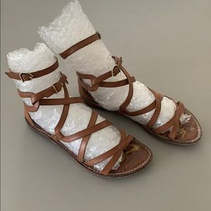 Sam Edelman Tan Gladiator Sandals - 7